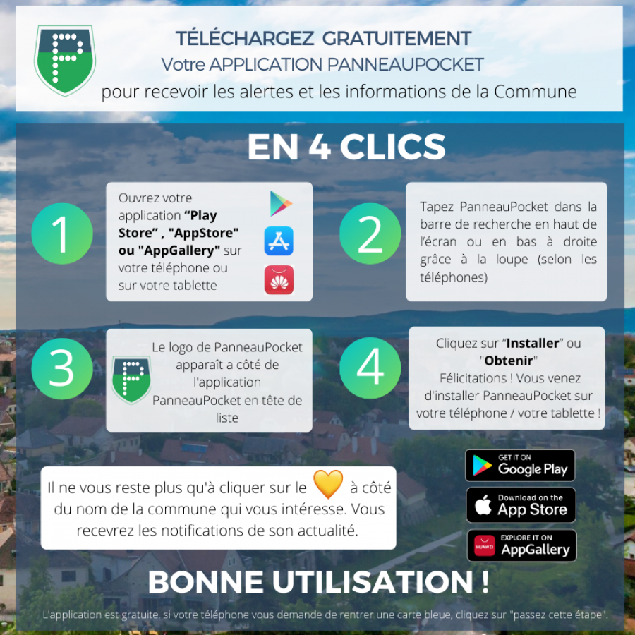 NOUVELLE APPLICATION: PANNEAU POCKET
